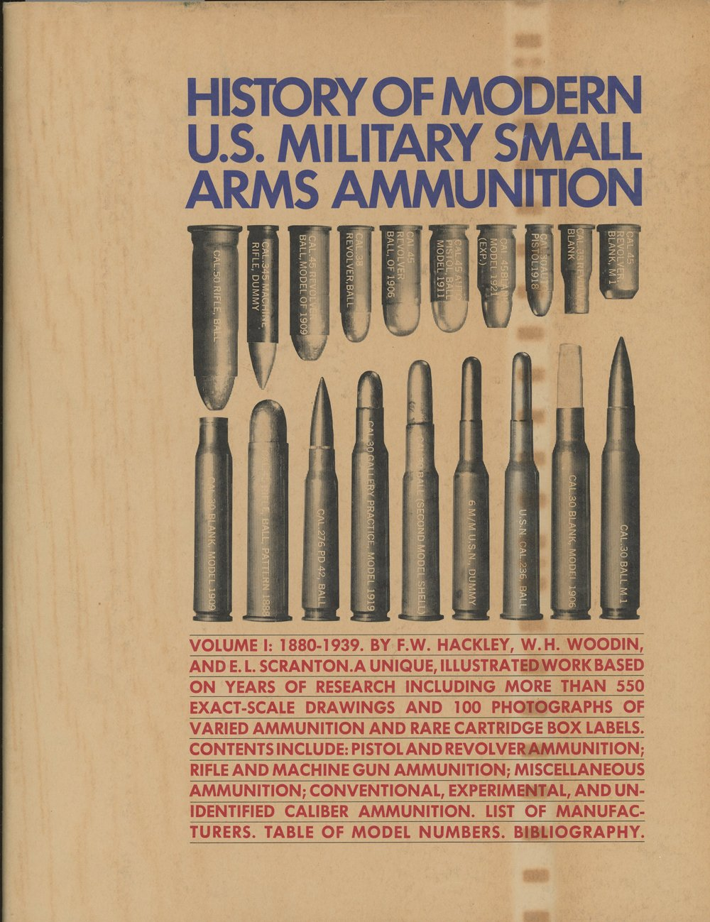History of Modern U S  Military Small Arms Ammunition Volume I 1880