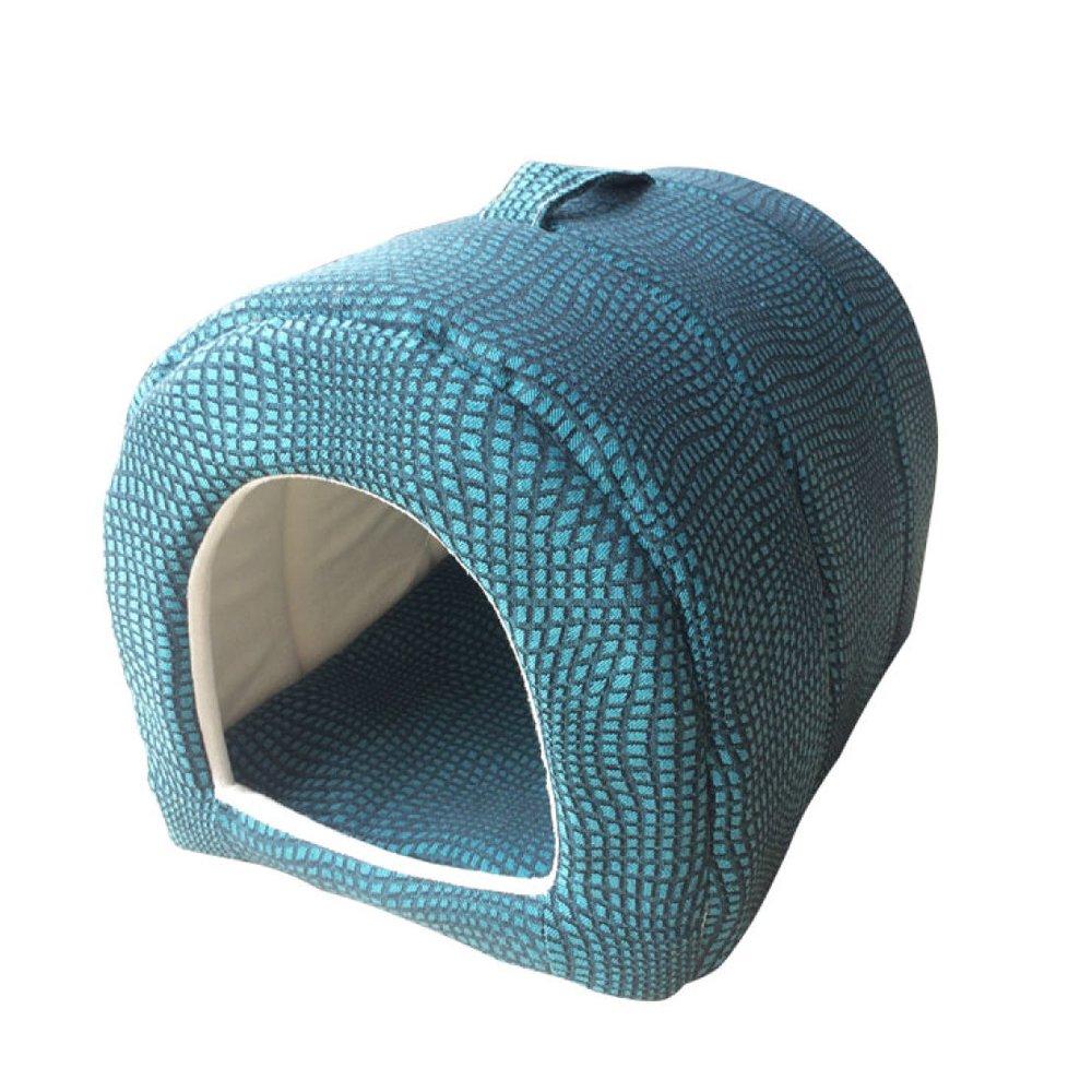 M 36 *30 *30cm /14 *12 *12inLDFN caldo Kennel Wasable Small Dog House Seasons Universal Dog Bed Pet Nest Cat Litter Pet Supplies,M36 *30 *30cm /14 *12 *12in