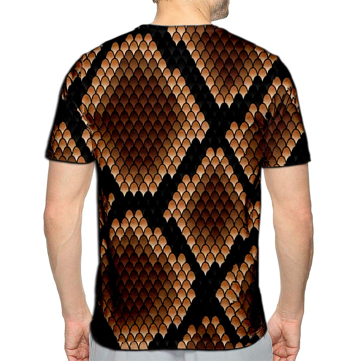 3D Printed T-Shirts Brown Snake Patternfor Or Fashion Design Short Sleeve Tops T