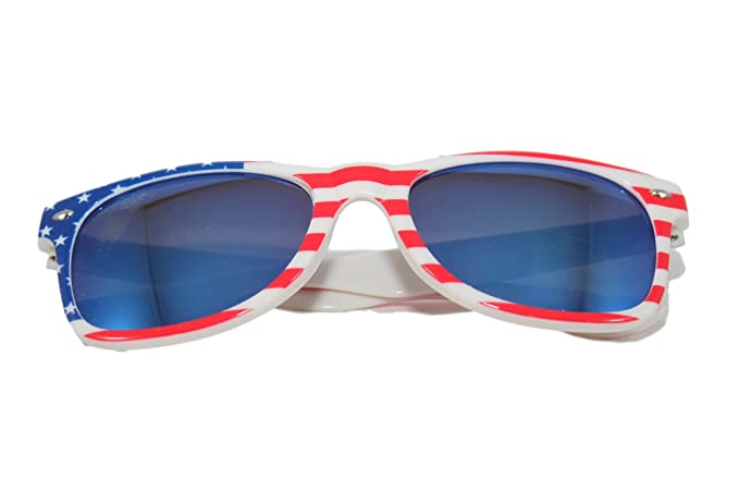 d396c50b191 Image Unavailable. Image not available for. Color  Fourth of July Sunglasses  American Patriot Mirror Classic USA