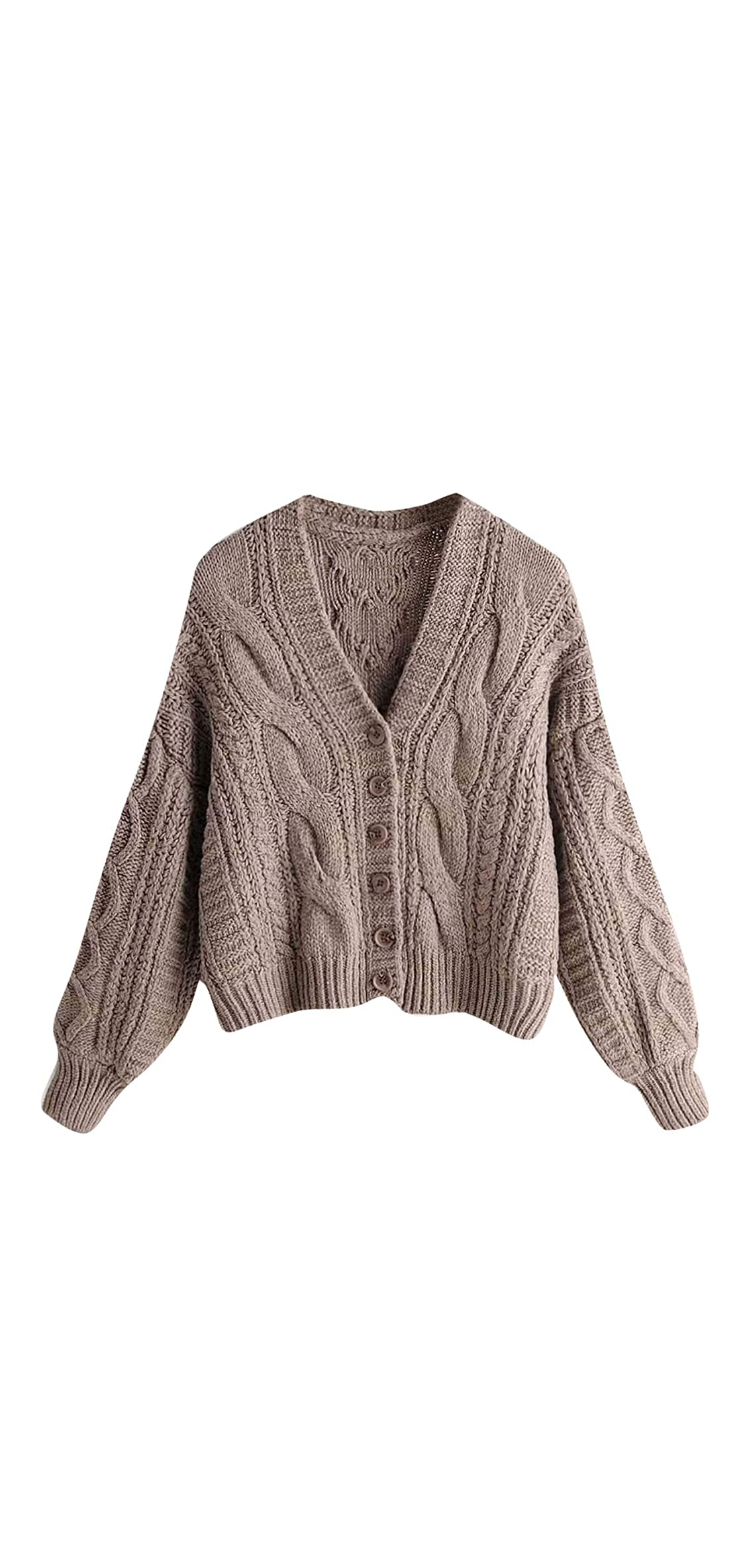 Womens Ribbed Knit Stand Collar Cropped Jumper Sweater