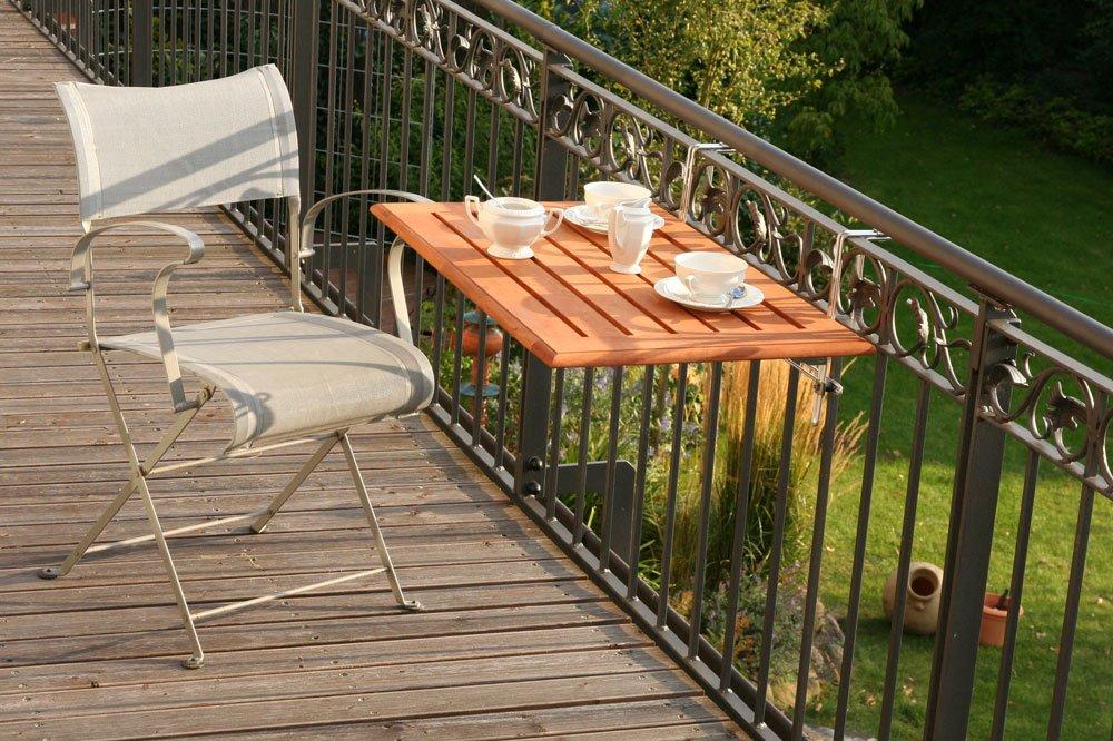 Videx 16501 Tavolo pieghevole da balcone in legno: Amazon.it ...