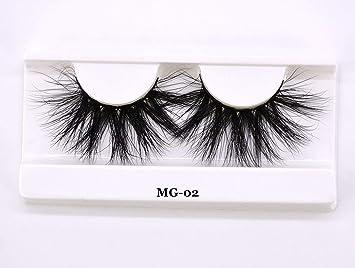 04dd8c6b272 Amazon.com: 25mm Long 3D mink lashes extra length mink eyelashes Big  dramatic Mink Lashes 100% Cruelty free Handmade thick false eyelash,MG02:  Beauty