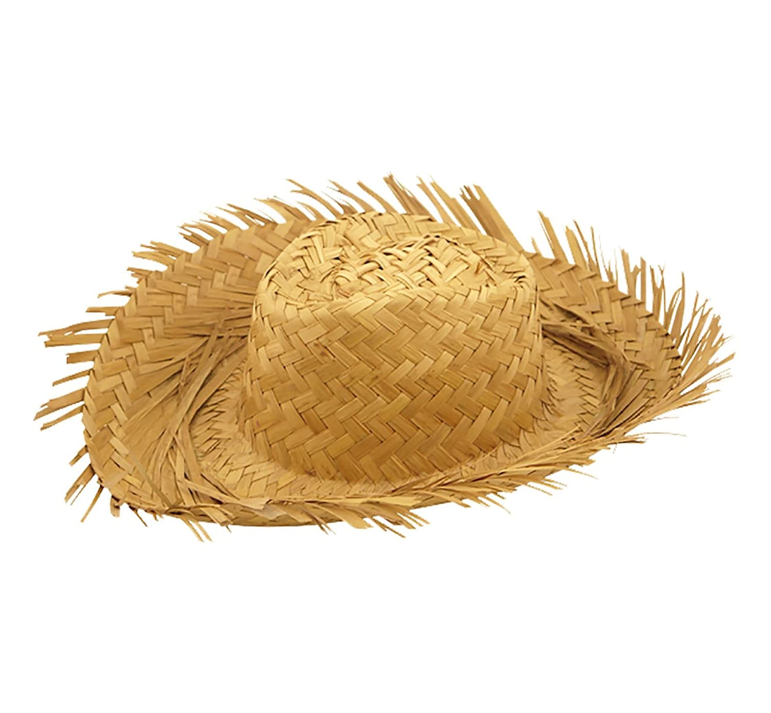 Mens Beachcomber Straw Hat Adults Hawaiian Beach Fancy Dress Party Accessory