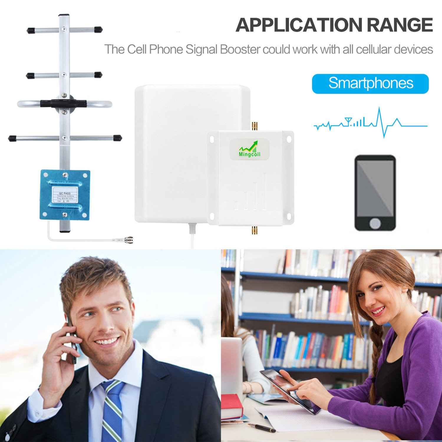 Verizon 4G Signal Booster LTE Cell Phone Repeater Band 13 Verizon 700MHz FDD with Panel Antenna Kit (White Cable) by Mingcoll (Image #4)
