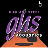 GHS 345 Silk n Steel 10-42 Light Acoustic Guitar String Set