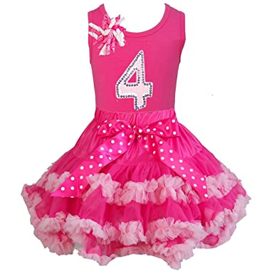 807210c421 Kirei Sui Hot Light Pink Pettiskirt 4th Birthday Top M Hot Pink: Amazon.co. uk: Clothing