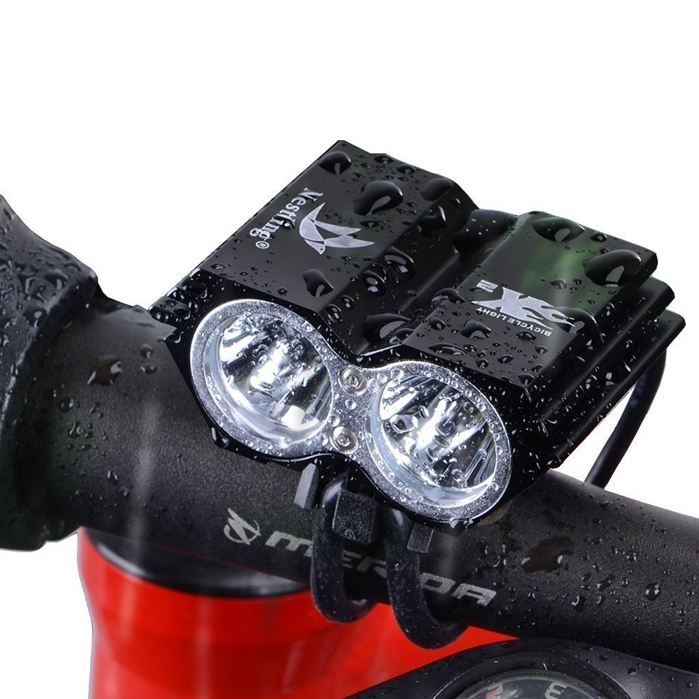 Bike Light 5000 Lumens LED Mountain Bike Bicycle Cycling Front Headlights Headlamp Head Lights USB 8000mAh 18650 Rechargeable Battery for MTB Road Night Riding