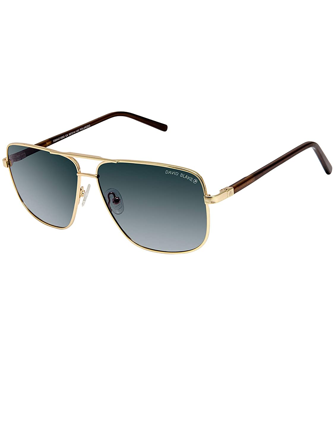 3a5a8970649 David Blake Wayfarer Gradient Polarised UV Protected Green Sunglass for Men  and Women  Amazon.in  Clothing   Accessories