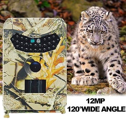 ZYSMC Cámara de Rastro de Vida Silvestre, cámara de Caza de 1080p Gran Angular detección