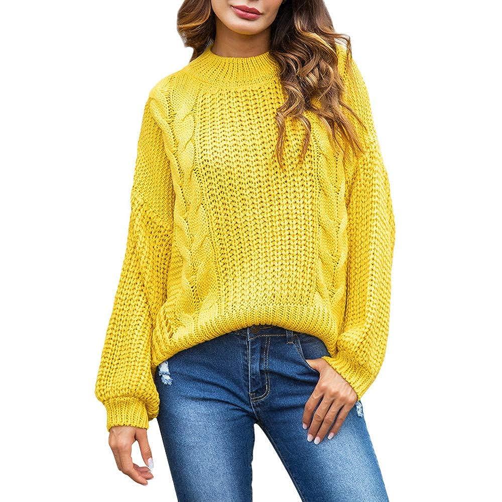 Maglione Donna Invernale ASHOPManica Lunga Donna Cotone Pullover Oversize Donna Giallo/Rosa S-XL ASHOPmagliedonna0924R80919831