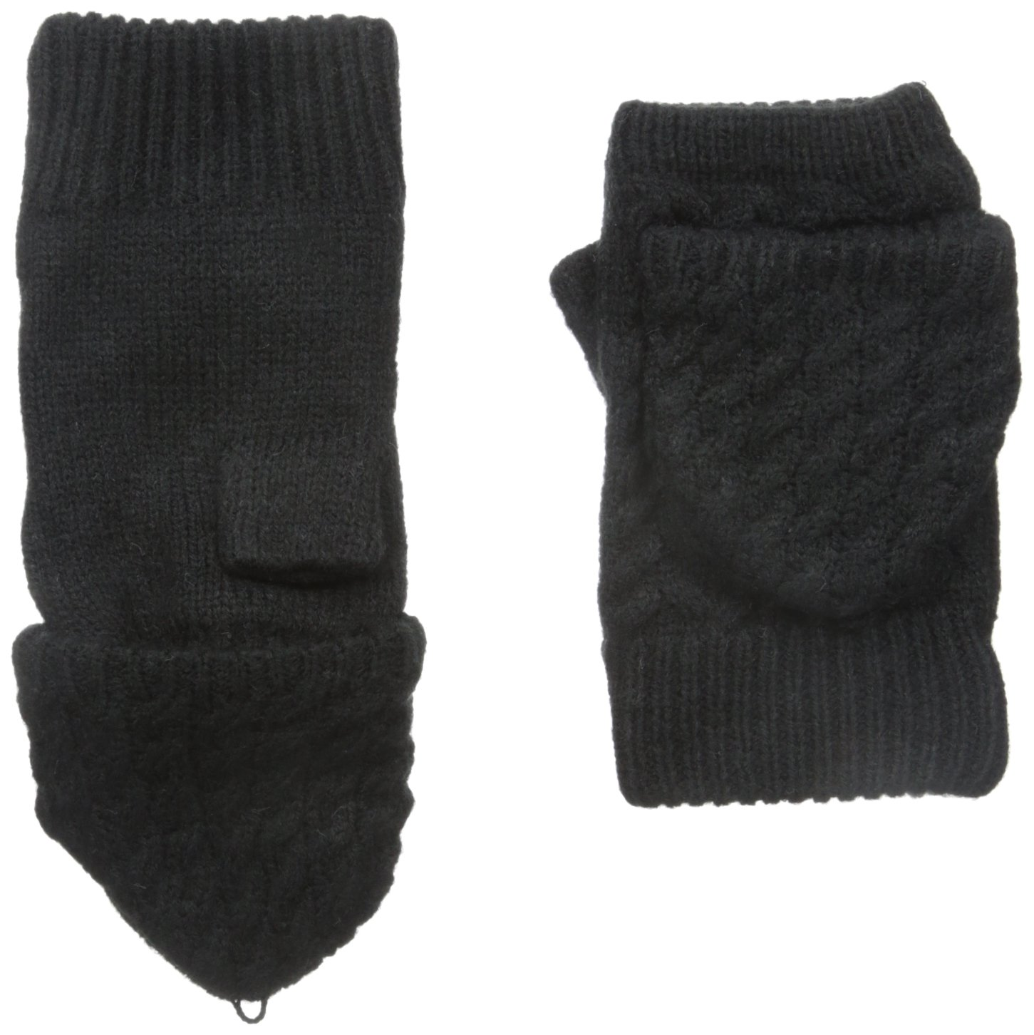 Calvin Klein Women's Cable Arm Warmer with Plush Lining, Black, One Size