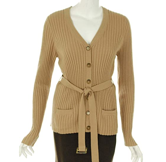 Sutton Studio Womens Cashmere Ribbed Cardigan Sweater Misses (X ...