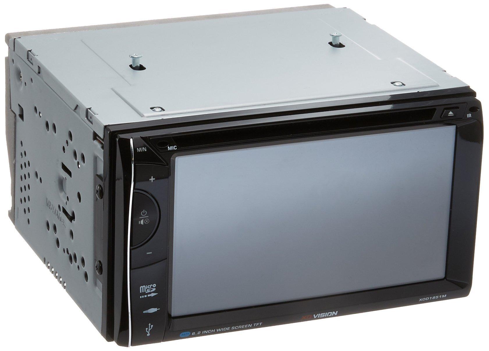 XO Vision XOD1851 In-Dash Double DIN 6.2'' INCH Wireless Bluetooth Touchscreen Monitor