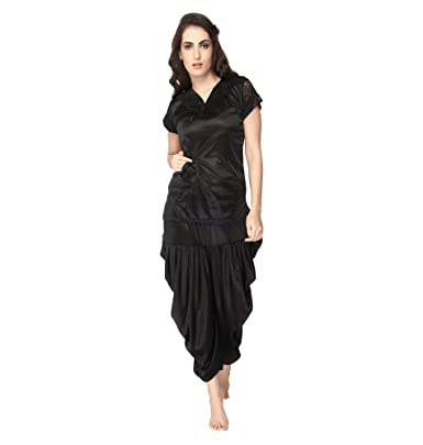 9f2d576709 Pretty Awesome Women s Satin Patiala Night Suit  Amazon.in  Clothing ...