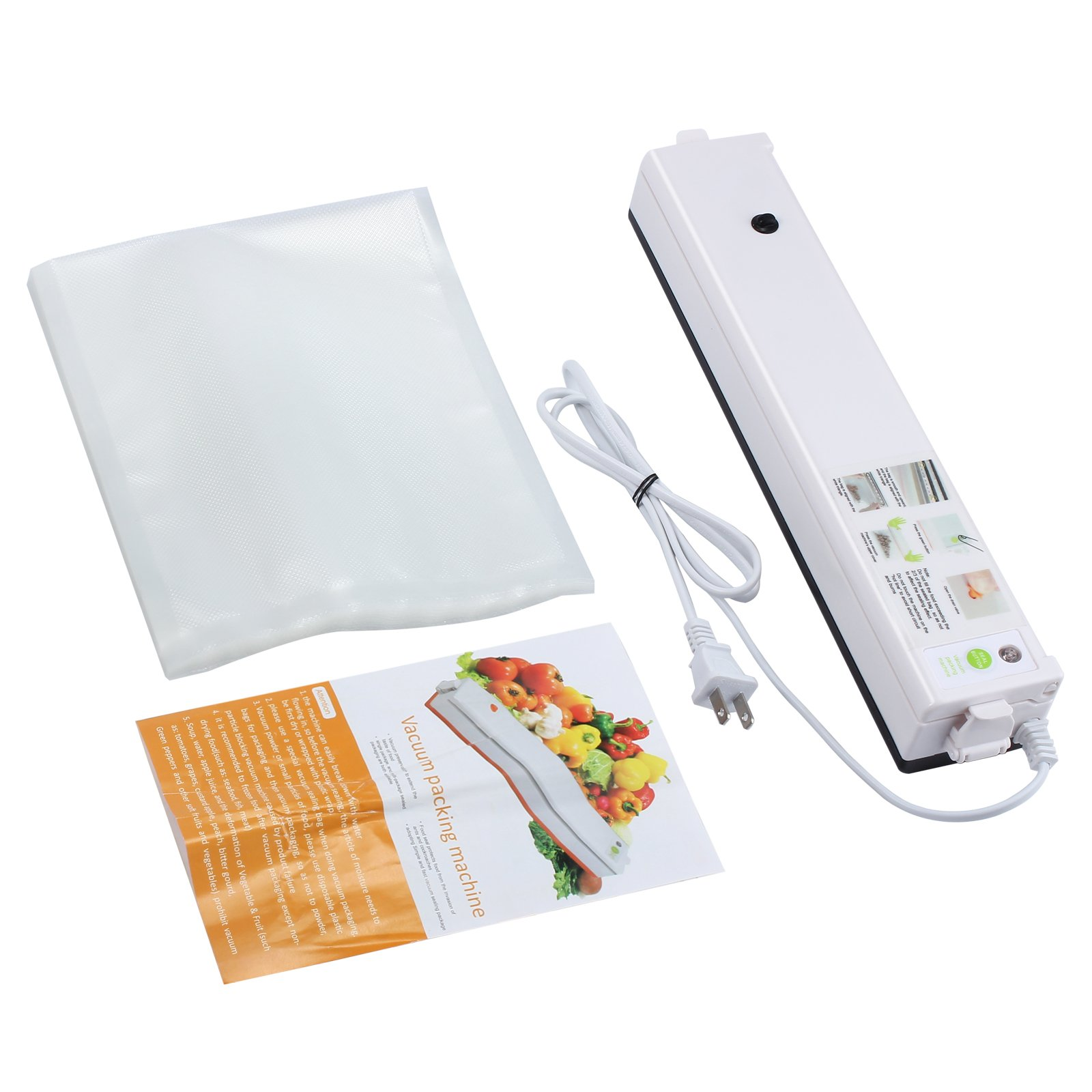 Proster Vacuum Sealer Machine Food Preservation Vacuum Sealing Packing Machine with 20Pcs Sealer Bags