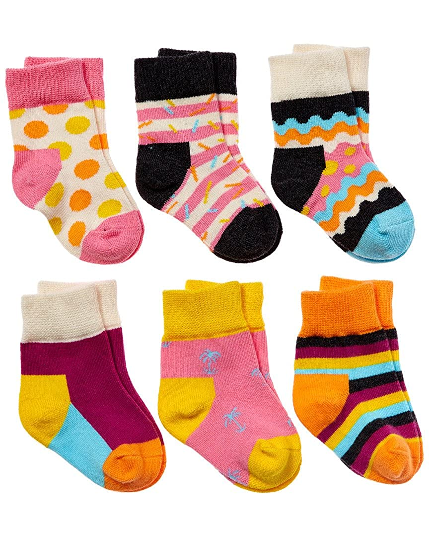 贈り物 Happy Happy Socks幼児ギフトセットソックスfor Girls 0-12 B01E9O3O28 Month Month ピンク/マルチ B01E9O3O28, 相馬村:51b620e5 --- ciadaterra.com