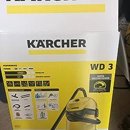 Kärcher WD 3 Premium Aspirador en seco y húmedo, 1000 W, 17 litros ...