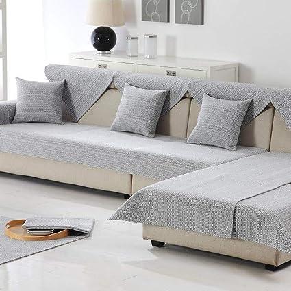Amazon.com: SVIO-SOFACOVER Grey All Season Sofa Couch ...