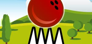 Red Bouncing Bowling Ball Spikes by Basin Apps