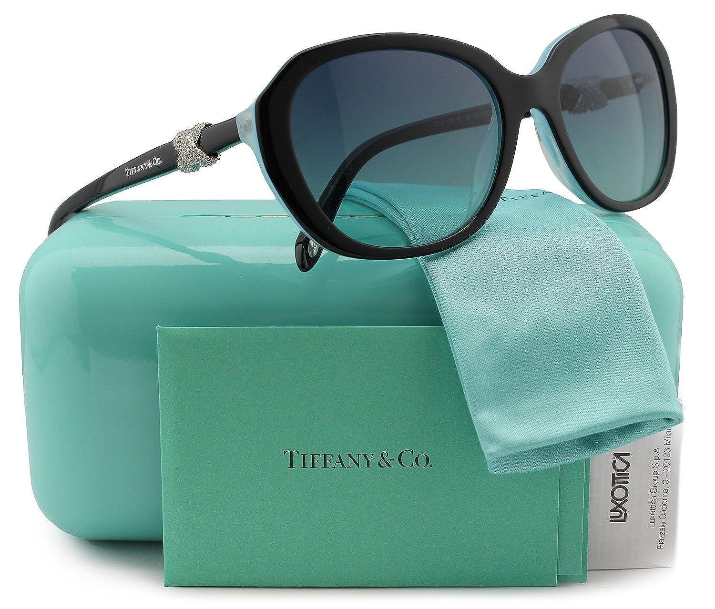 8d0dd46d3b5ff Tiffany & Co. TF4108B Sunglasses Black/Blue w/Blue Gradient (8193/9S ...