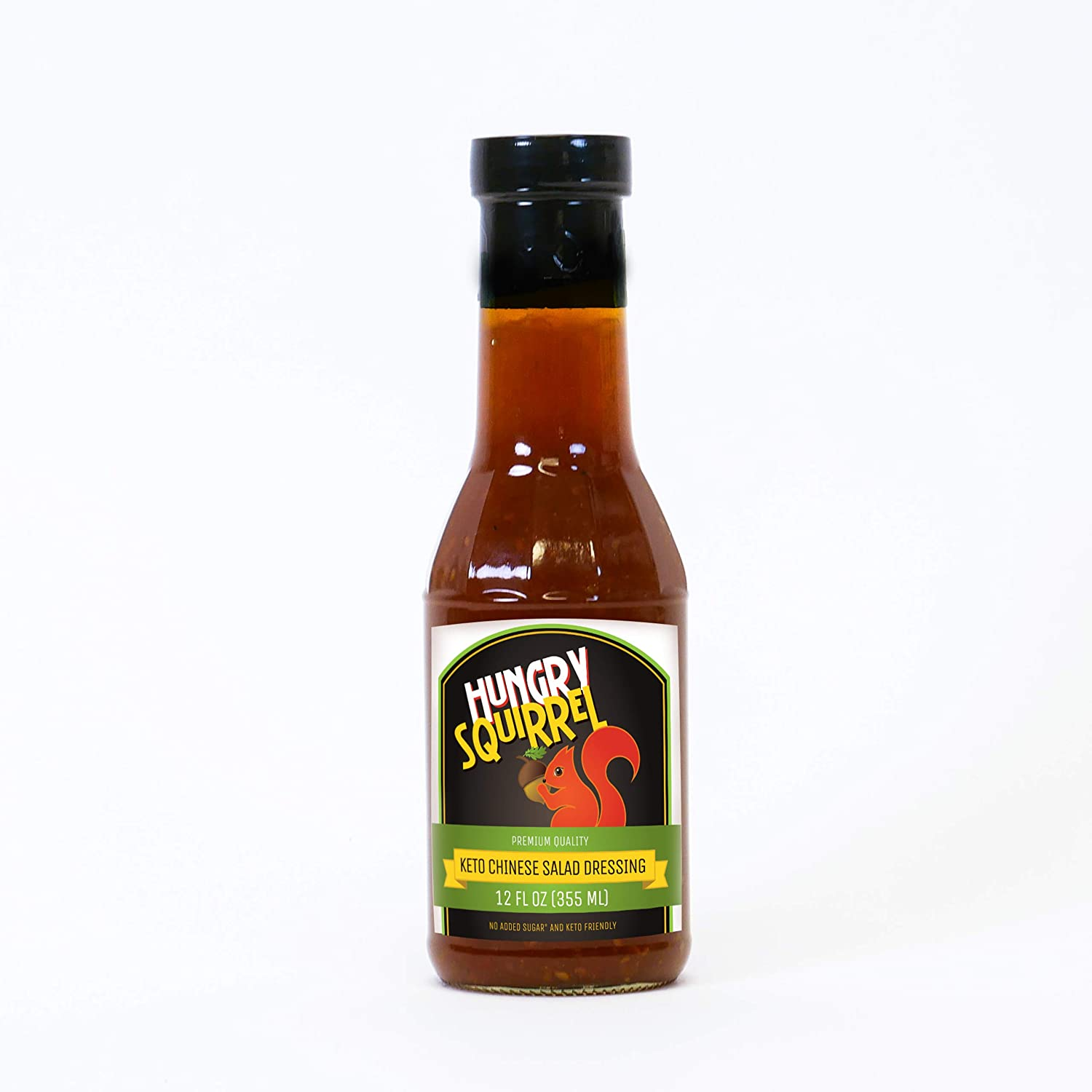 Hungry Squirrel - Keto Chinese Salad Dressing No Added Sugar Paleo Friendly, Natural Taste with Real Fruit Gourmet Sauce Perfect Choice for Salad Mix, Great Value with Delicious Taste, 12 Oz