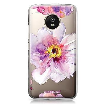 CASEiLIKE® Funda Moto G5, Carcasa Motorola Moto G5, Acuarela Floral 2231, TPU Gel Silicone Protectora Cover
