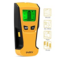 INTEY Detector de Pared con Pantalla LCD para Detecta AC Cable, Azulejos, Metal Tuberías