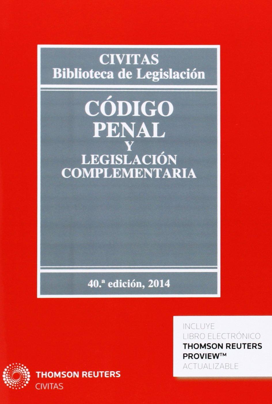 Código penal y legislación complementaria 40ed Biblioteca de Legislación: Amazon.es: Díaz-Maroto y Villarejo, Julio: Libros