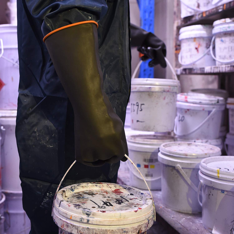 r/ésistant /à lacide fort imperm/éable protection de travail de s/écurit/é Gants en latex r/ésistants 1 pair 35cm /à lalcalin et /à lhuile 2 en caoutchouc industriel
