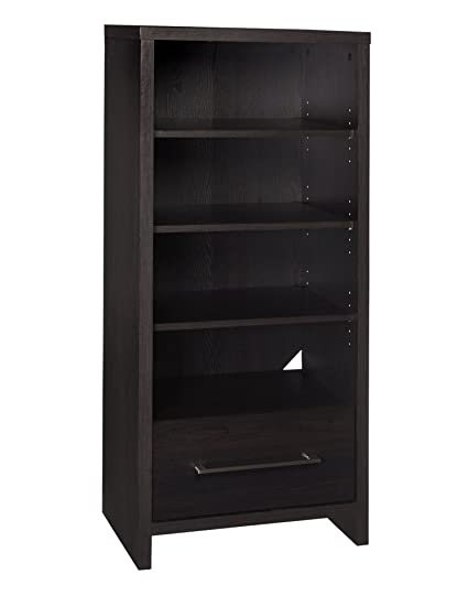 Superbe ClosetMaid 1661 Media Storage Tower Bookcase With 2 Drawers, Black Walnut