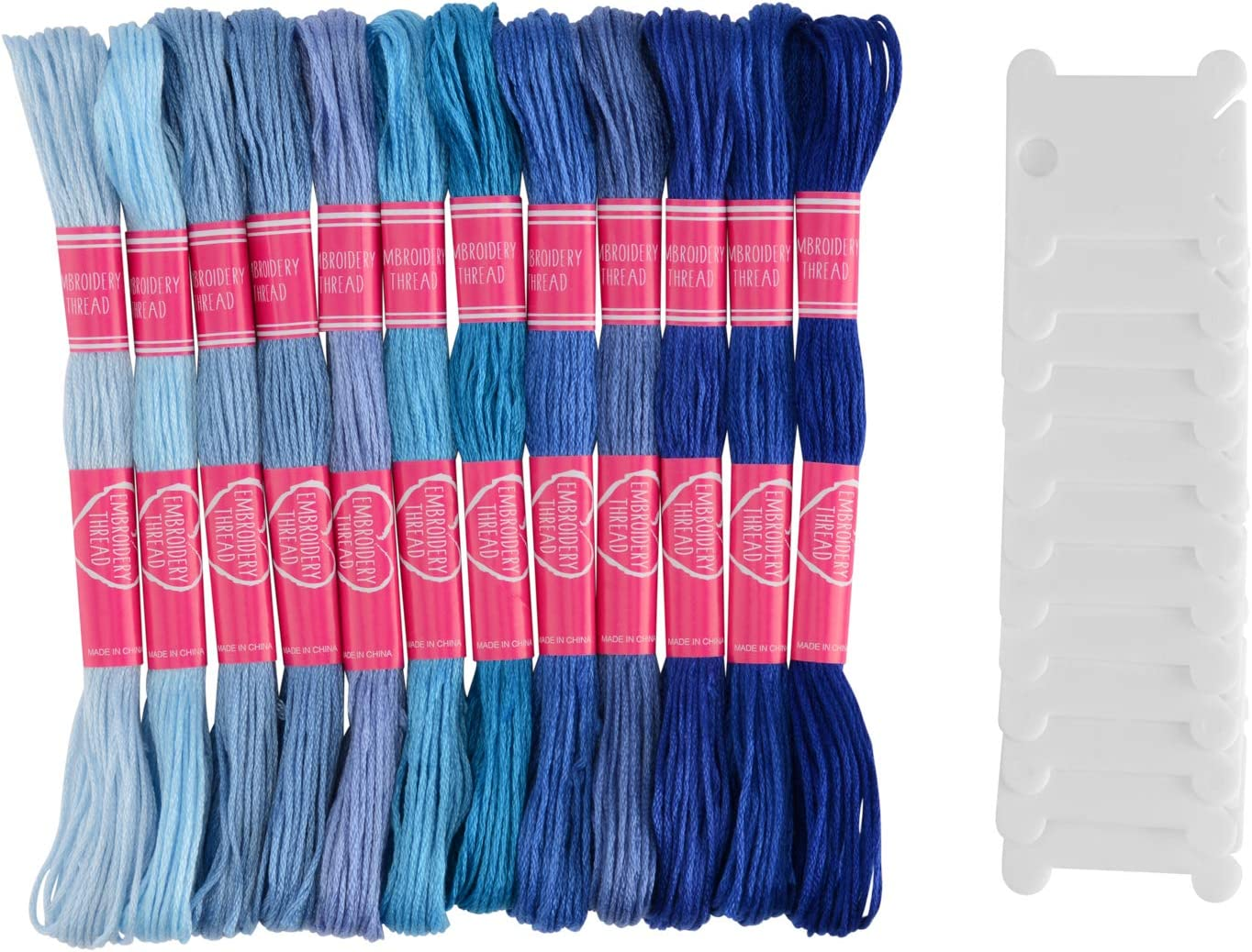 Cross Stitch Threads Friendship Bracelets Floss with 6 Floss Bobbins 2 Embroidery Needles and 1 Needle Threader for Cross Stitch Project Pllieay 24 Skeins Green Gradient Embroidery Floss