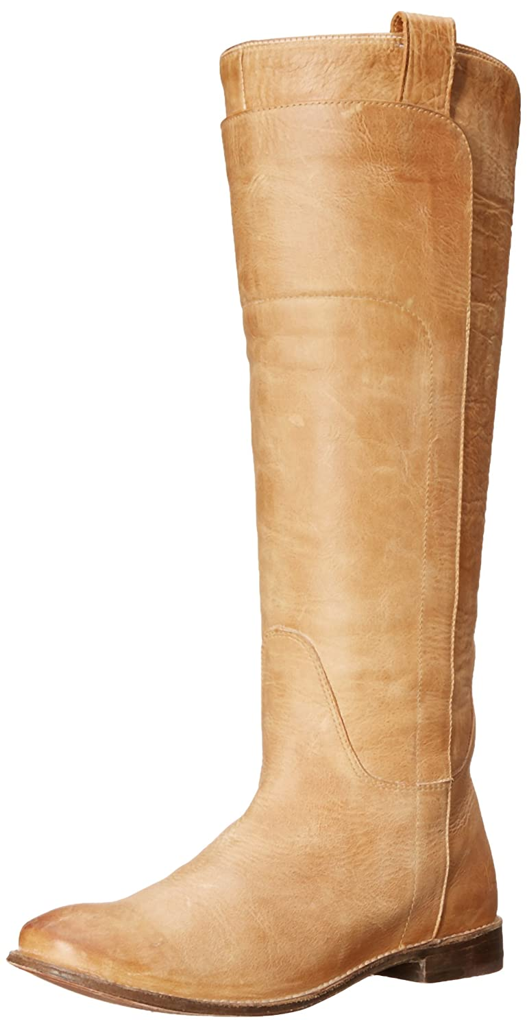 FRYE Women's Paige Tall Riding Boot B001VNBL4Y 5.5 B(M) US|Saddle Burnished Leather-77534