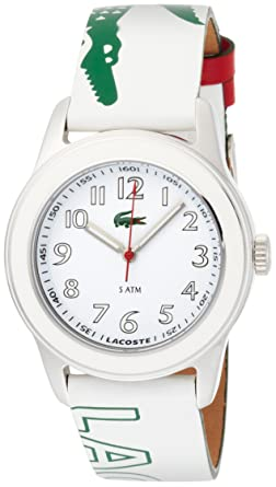 Amazon.com: Lacoste Womens Graphic White and Green Watch 2000518: Lacoste: Watches