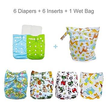 Amazon.com: Baby Cloth – Pañales de bolsillo, lavable y ...