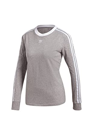 adidas Damen 3 Stripes Longsleeve: : Bekleidung