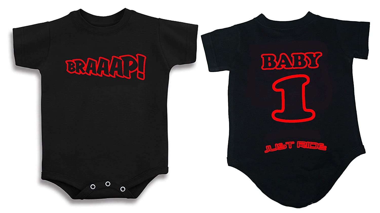 Braaap Motocross Baby Infant One Piece Creeper