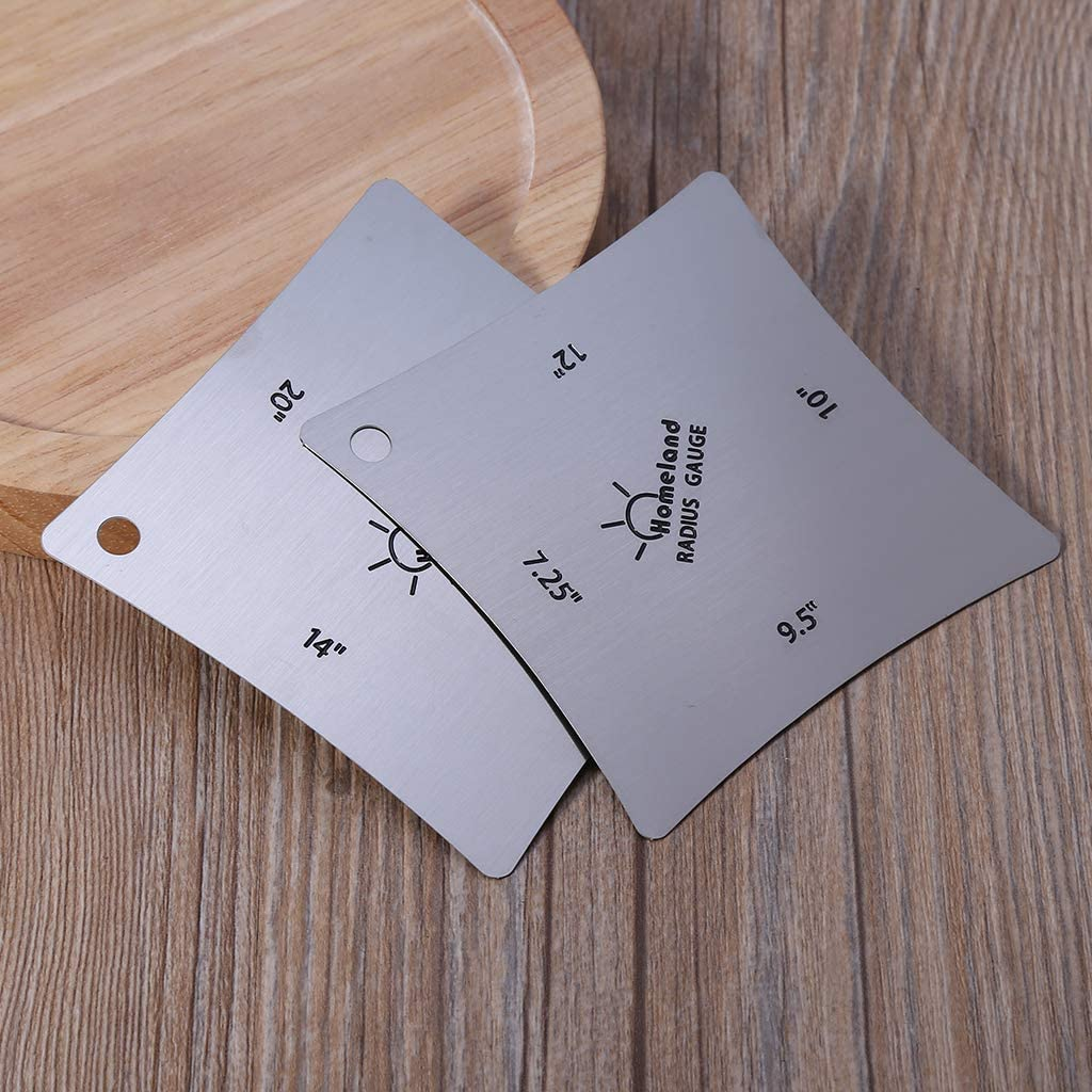 JunYe 2Pieces Radius Jauges pour la Configuration de la Guitare mesurant Le Rayon de la Noix de Selle