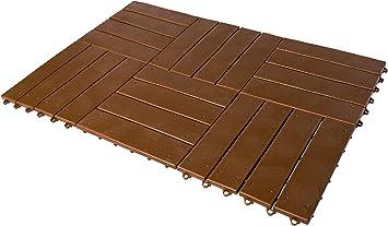 UPP® juego de baldosas de jardín, fácil colocación I set de 24 baldosas, losas para patio, terraza, jardín, etc. I impermeables y antideslizantes (c/u 30x30): Amazon.es: Bricolaje y herramientas