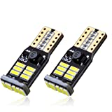 Cougar Motor Extremely Bright T10 194 168 175 2825 PX Chipsets LED Light Bulb - Error Free CANBUS, Bright White (Pack of two bulbs)
