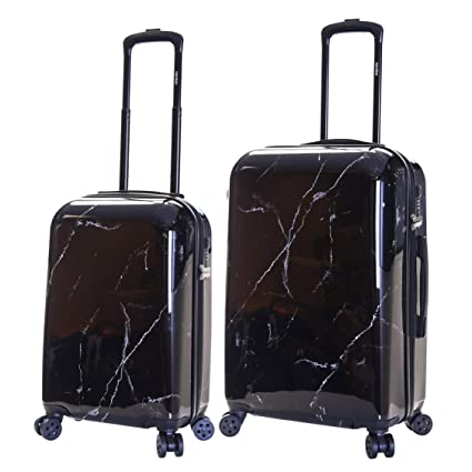 9b66eea23 Karabar Set of 2 Hard Suitcases Luggage Bags Small Carry-on Cabin and  Medium Large