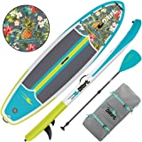 DRIFT Inflatable Stand Up Paddle Board, SUP with Accessories | Pump, Lightweight Paddle, Fin & Backpack Travel Bag