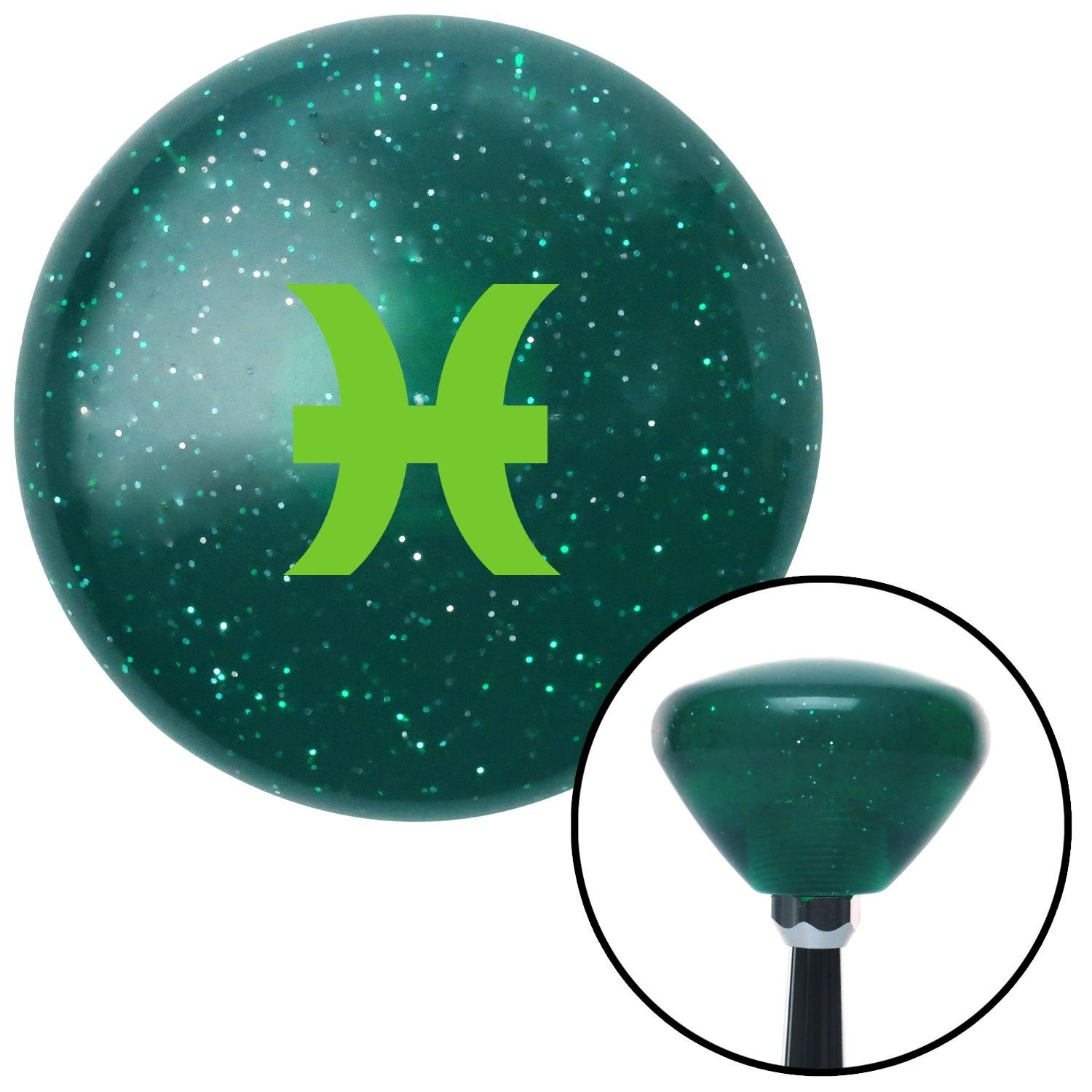 Green Pisces Green Retro Metal Flake with M16 x 1.5 Insert American Shifter 291922 Shift Knob