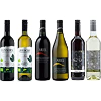 Red/White Wine Sampler -Six (6) Non-Alcoholic Wines 750ml Each - Featuring Ariel Cabernet Sauvignon, Ariel Chardonnay…