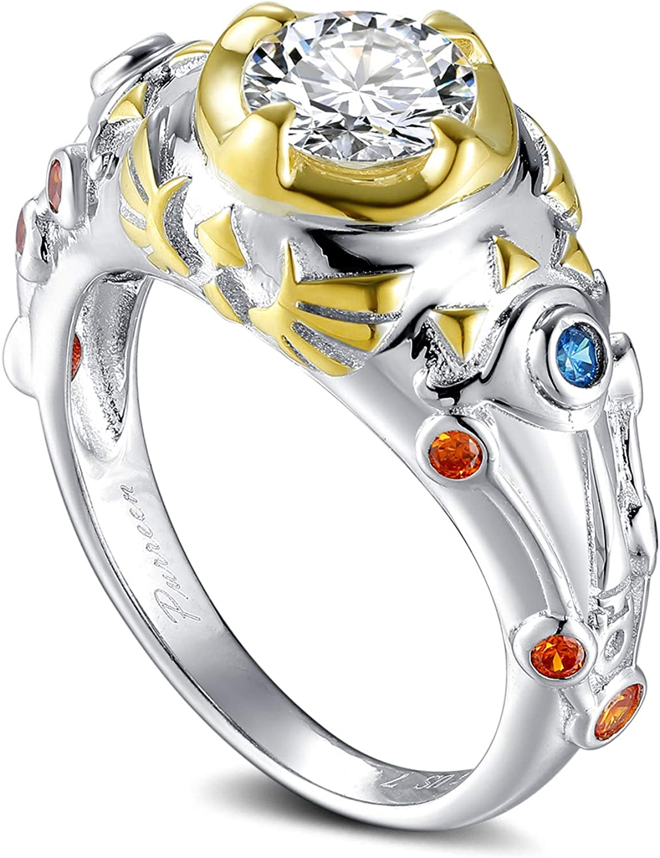 Purreen Legend of Zelda Sheikah Slate Hylian Crest Breath of The Wild Engagement Ring