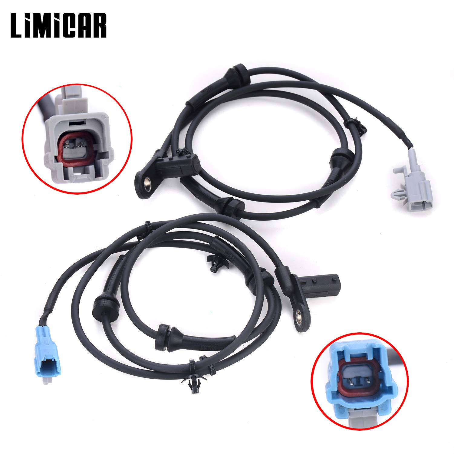 LIMICAR 2PCS Rear Left /& Right ABS Wheel Speed Sensor ALS348 ALS349 47900-7Y000 1802-308879 Compatible w// 2004 2005 2006 2007 2008 Nissan Maxima 3.5L