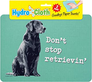 product image for Fiddler's Elbow Hydro Cloth Dog Breed Dishcloths | Set of 2 | Eco-Friendly Dish Cloths | Paper Towel Replacements (Black Lab)
