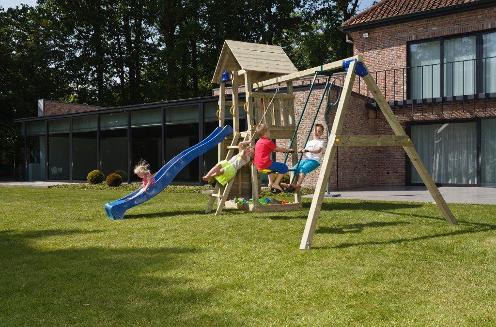 Klettergerüst Cleverclimber Club Xxl : Spielturm belvedere blue rabbit 2.0 podesthöhe 120cm mit rutsche