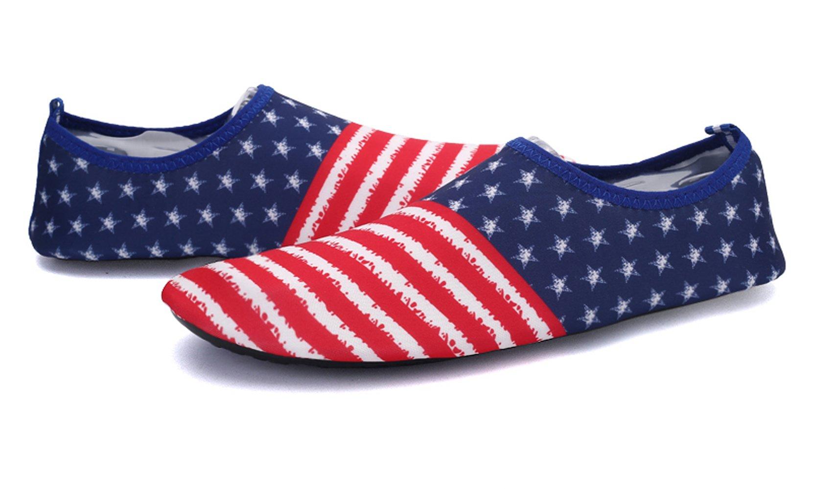 Demetory Unisex Outdoor Water Shoes Neoprene Lightweight Quick-Dry Barefoot Aque Socks Swim, Walking, Yoga, Beach, Water Park by Demetory (Image #1)