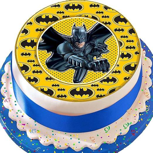 Batman Logo frontera Cumpleaños troquelada comestible ...